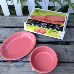 Fiestaware 2 piece set bowl platter new in box